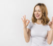 Happy woman at having a stronger relationship
